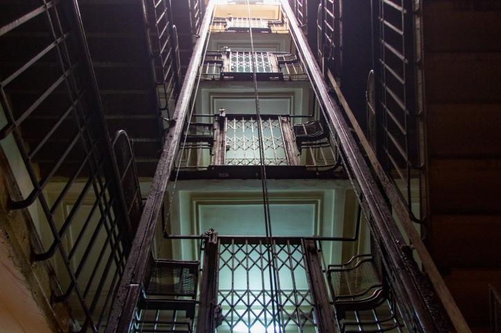 Elevator at the Windsor Hotel