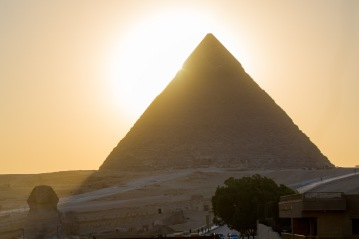 Sunsets in Egypt create a unique yellow light.