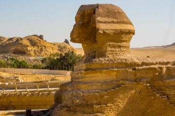 Much smaller than photos would suggest: The Sphinx