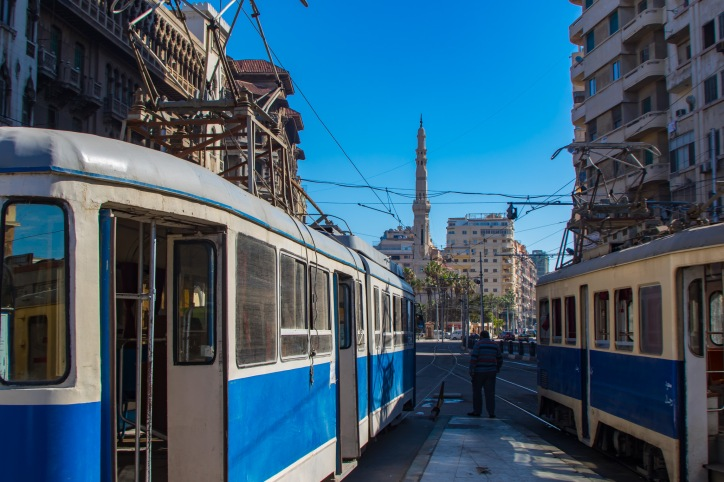 Alexandria's old and very slow tram